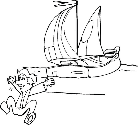 columbus ships coloring pages - photo #25