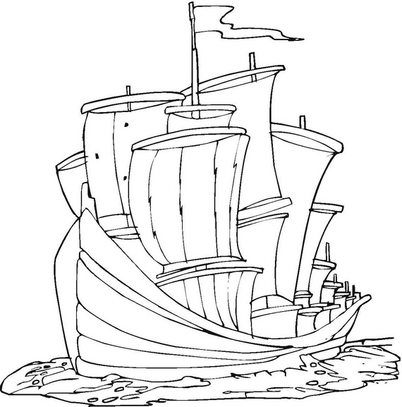 columbus ships coloring pages - photo #12