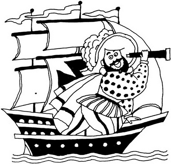columbus day ships coloring pages - photo#26