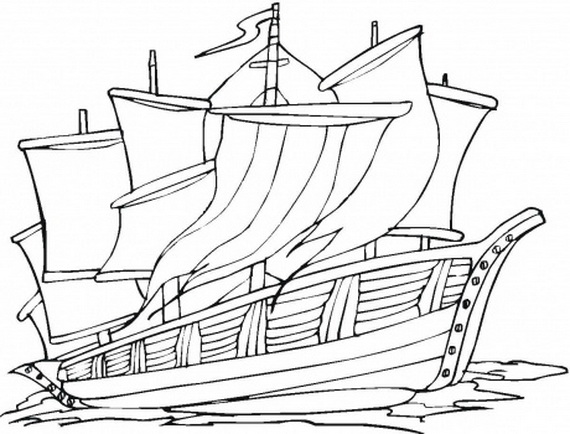 columbus ships coloring pages - photo #7