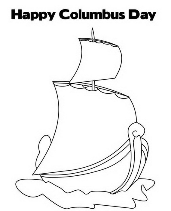 columbus ships coloring pages - photo #11
