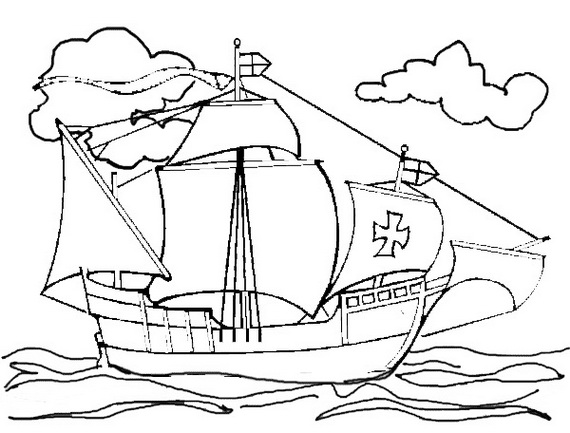 columbus ships coloring pages - photo #13