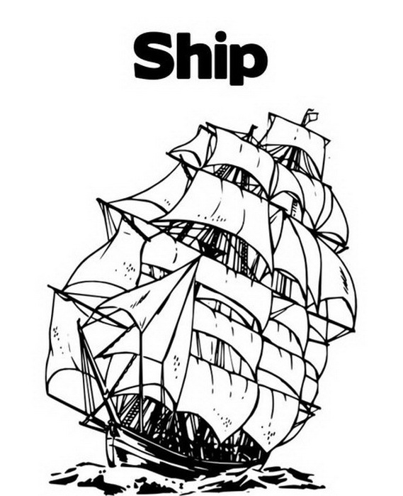 columbus ships coloring pages - photo #15