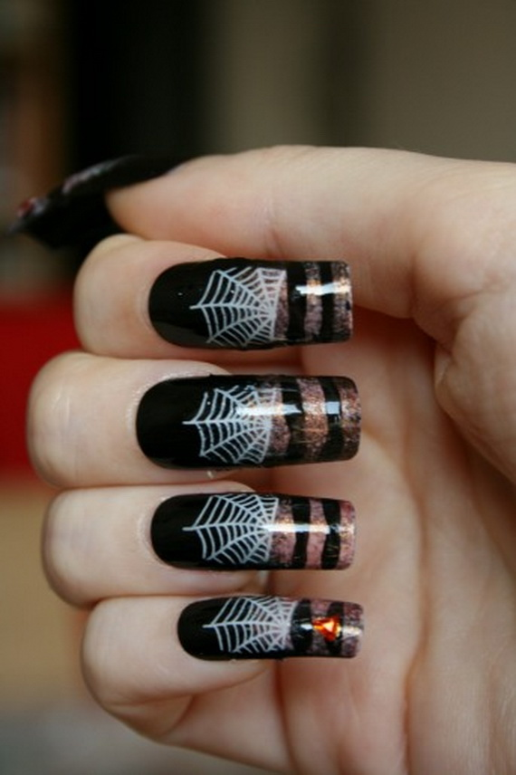 Easy Halloween Nail Art Designs To Master - family holiday ...