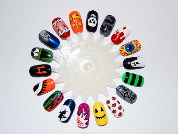 Easy halloween nail art designs to master family holiday related posts elegant halloween nail art designs prinsesfo Choice Image