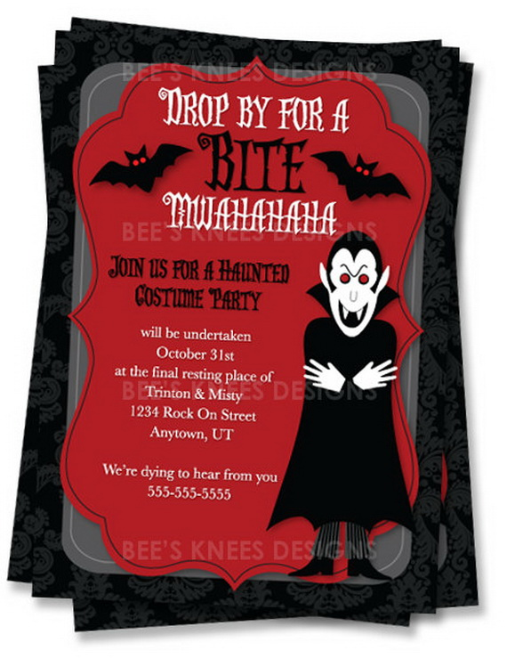 Easy handmade halloween invitations and cards family holiday related posts stopboris Choice Image
