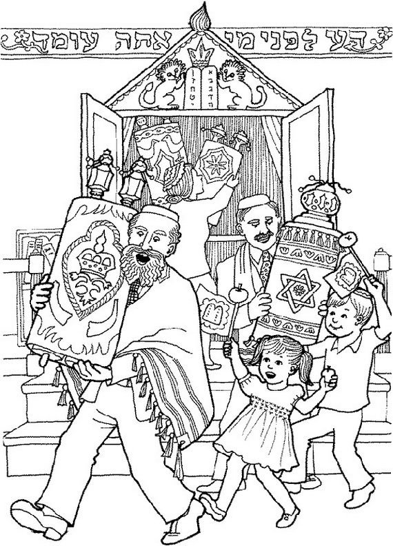 jewish coloring pages for kids - photo#15