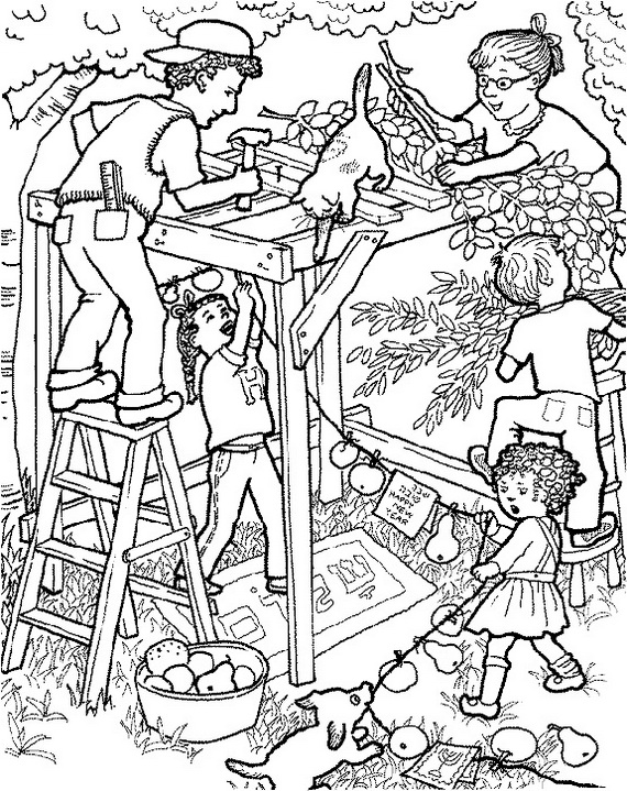 hebrew coloring pages - sukkot free jewish coloring pages for kids family