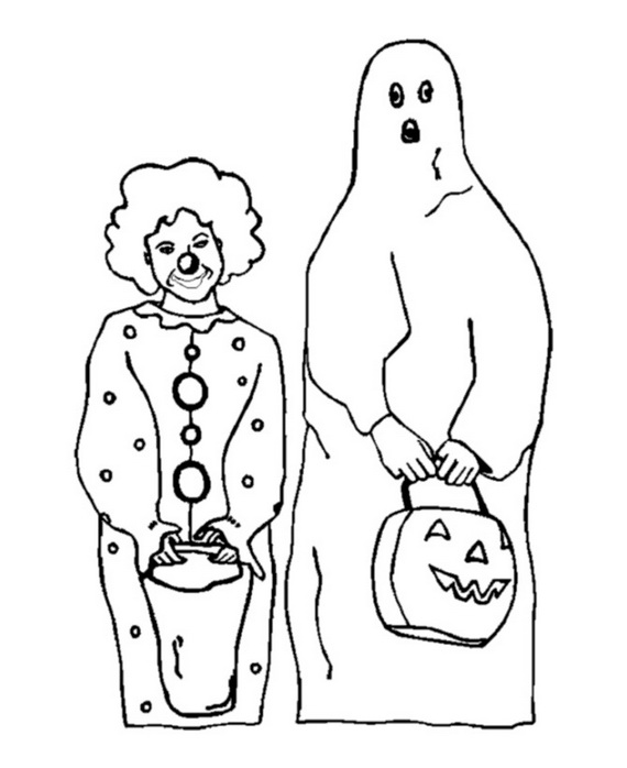 Fun Scary Halloween Coloring Pages