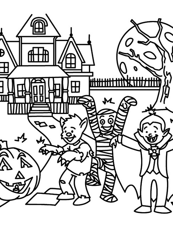 related posts fun and spooky halloween coloring pages costumes - Halloween Pictures Coloring Pages