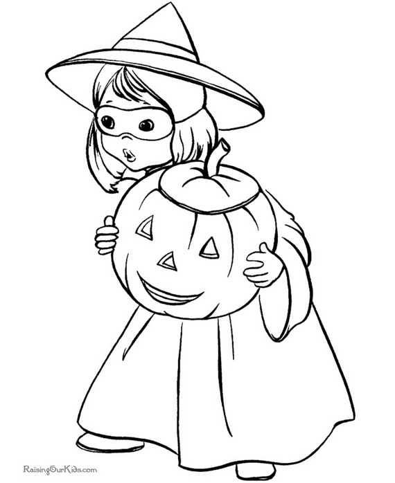 Fun Scary Halloween Coloring Pages Costumes 2012 Family Costumes Coloring Pages