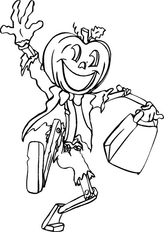 Halloween Coloring Sheets Preschool Fun Scary Pages Costumes 2012 Family Holiday