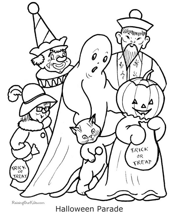 Fun And Spooky Halloween Coloring Pages Costumes Family Holiday