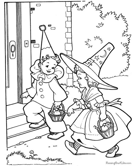 Fun and Spooky Halloween Coloring Pages Costumes - family holiday ...