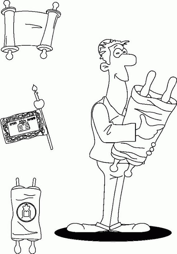 Jewish Coloring Pages for Kids Simchat Torah - family holiday.net ...