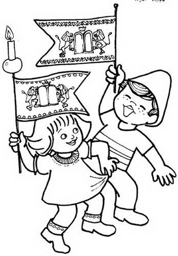 jewish coloring pages for kids - photo#9