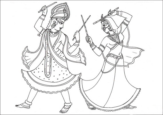 Navratri And Dussehra Festival Coloring Pages on india decorating