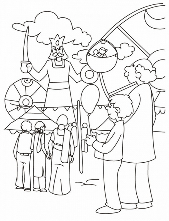 Craft Fair Coloring Pages