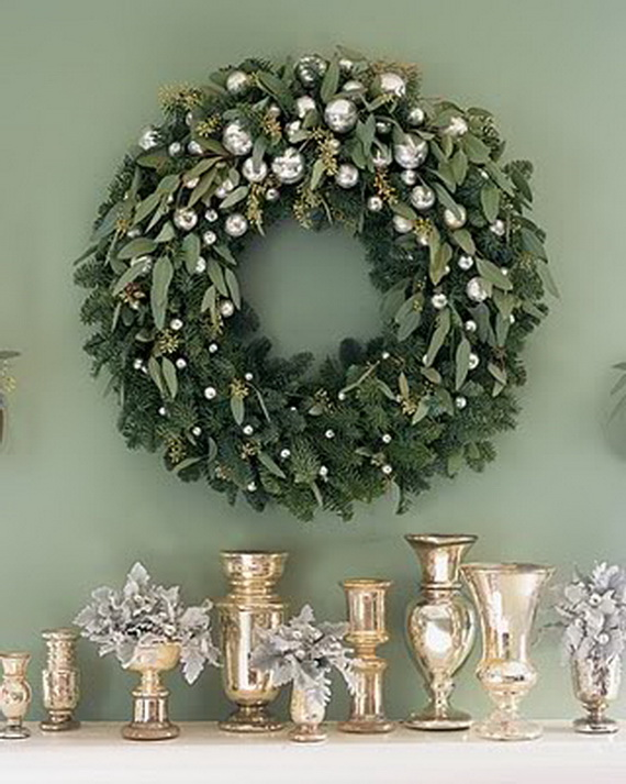 Simple jewish wreath decoration ideas family Christmas wreath decorations
