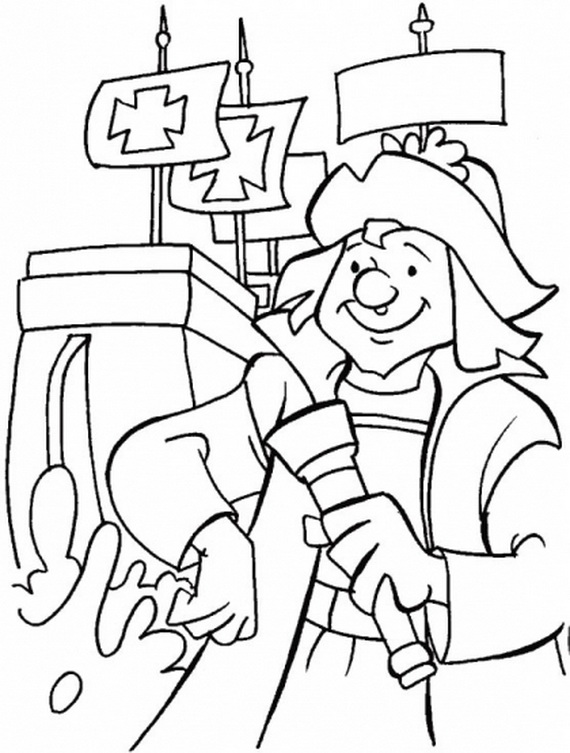 Columbus Day Coloring Pages Family Holiday Net Guide To Columbus Coloring Pages