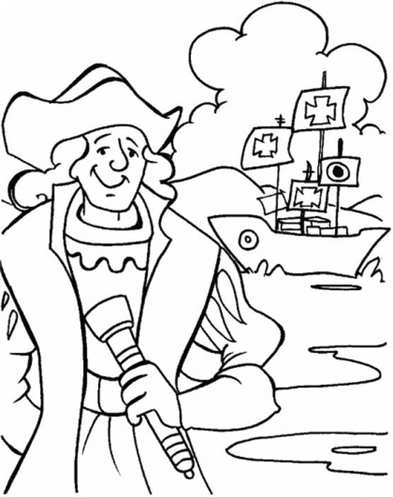 Columbus Day Coloring Pages - family holiday.net/guide to family ...