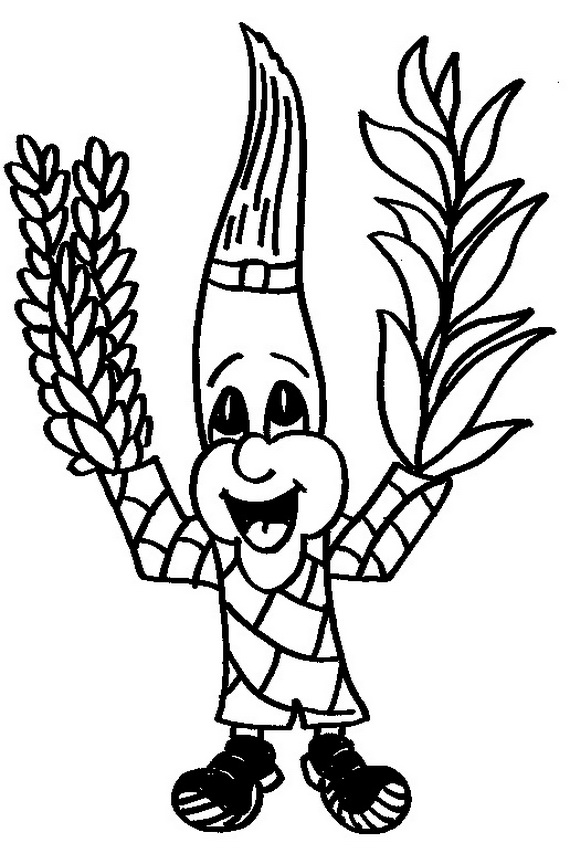 Sukkot coloring pages for Kids - family holiday.net/guide ...