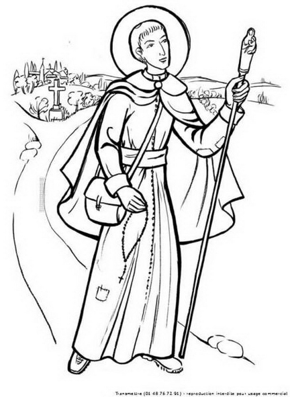 St francis of assisi coloring pages for catholic kids - Dessin de saint ...