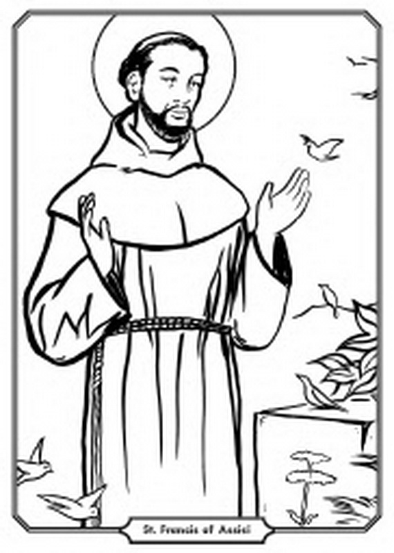 St Francis Of Assisi Coloring Pages For Catholic Kids St Coloring Page Catholic
