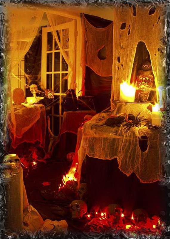 50 stylish halloween house interior decorating ideas