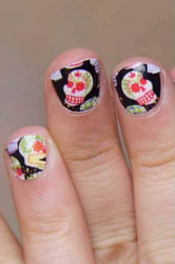 Beautiful day of the dead nail art designs family holiday related posts prinsesfo Gallery