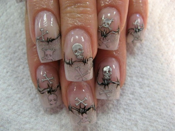 Beautiful Day Of The Dead Nail Art Designs Family Holiday Net Guide To Family Holidays On