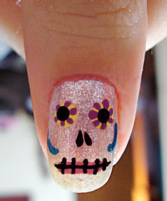Beautiful day of the dead nail art designs family holiday related posts prinsesfo Image collections