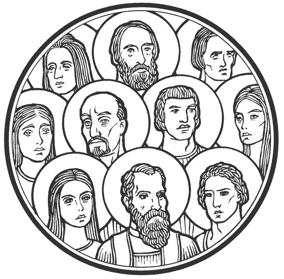 Catholic Saints and All Saints Day Coloring Pages family