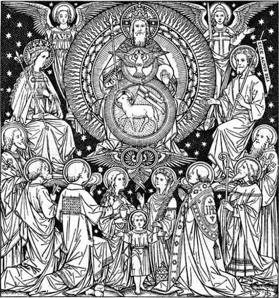 Catholic Saints And All Saint S Day Coloring Pages Family Holiday