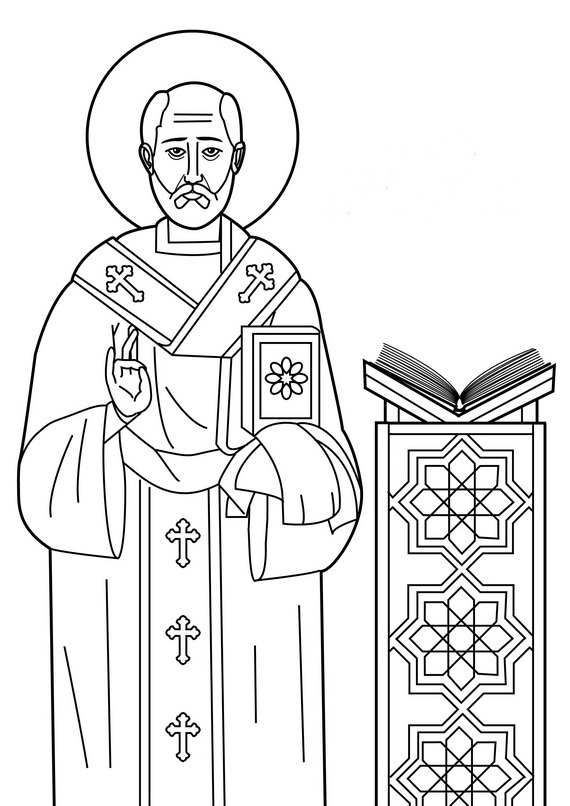 catholic all saints coloring pages - photo#10