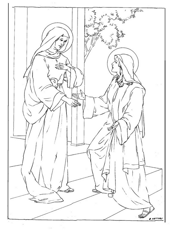 catholic coloring pages of saints - photo#16