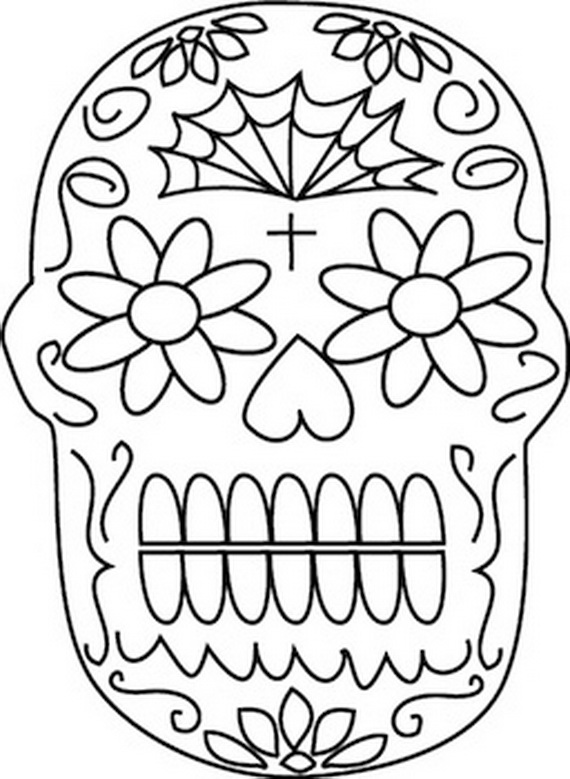 Day Of The Dead Coloring And Craft Activities Family Day Of The Dead Skull Coloring Pages