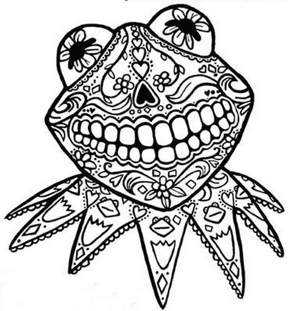 Day Of The Dead Coloring And Craft Activities Family Holiday Net