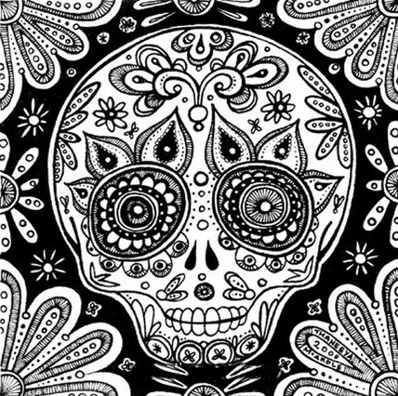 related posts - De Los Muertos Coloring Pages