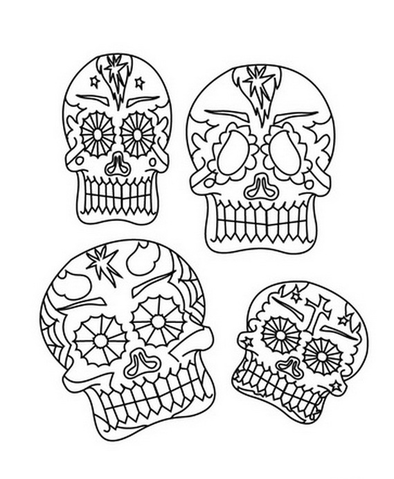 Day Of The Dead Skeletons Coloring Pages. Related Posts Day of the Dead Coloring and Craft Activities  family holiday net