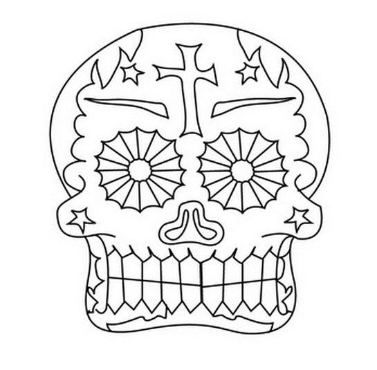 Day Of The Dead Mask Coloring Pages Day Of The Dead Mask Coloring Pages