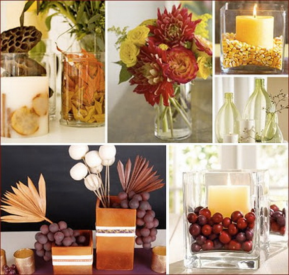 Easy and elegant thanksgiving handmade centerpieces Cheap thanksgiving table setting ideas