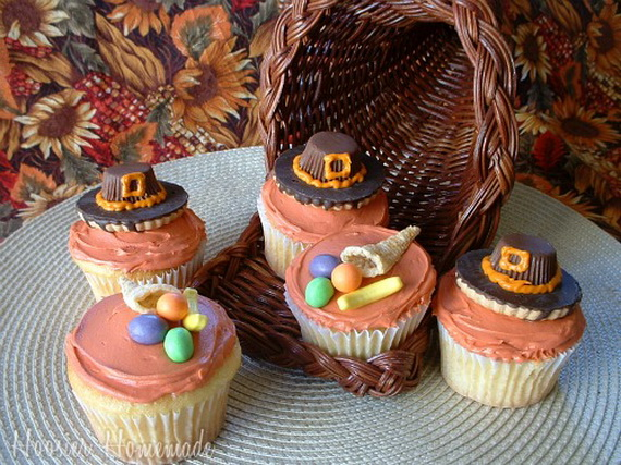 Cute Cake Ideas For Thanksgiving : Easy Adorable Thanksgiving Cupcake Decorating Ideas ...