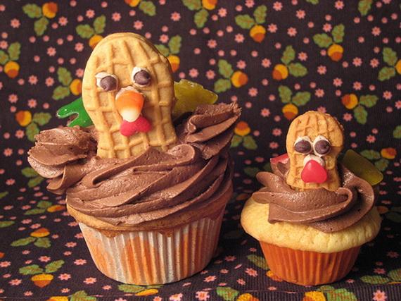 Cupcake Cake Ideas For Thanksgiving : Easy Adorable Thanksgiving Cupcake Decorating Ideas ...