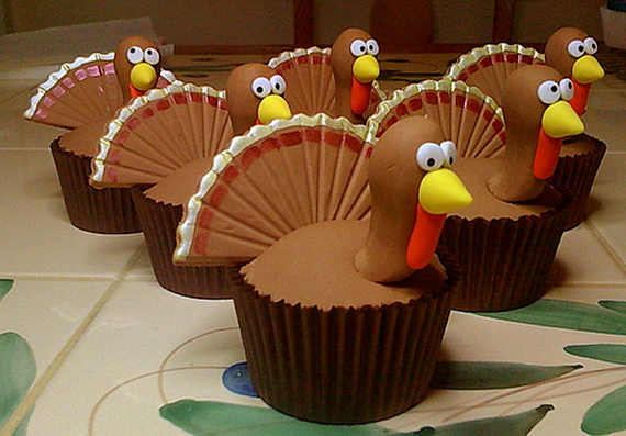 Easy Adorable Thanksgiving Cupcake Decorating Ideas family holiday