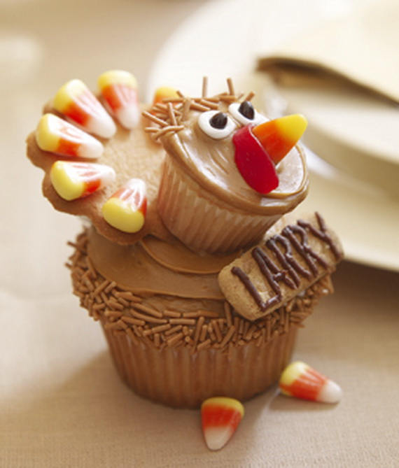 Ideas For Decorating Cupcakes: Easy Adorable Thanksgiving Cupcake Decorating Ideas