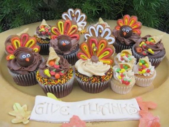 Easy adorable thanksgiving cupcake decorating ideas for Decorations for thanksgiving cupcakes