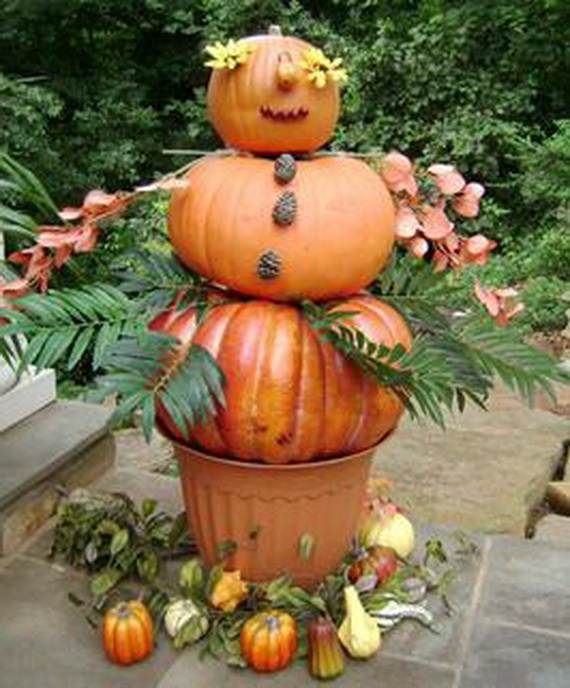 Pumpkin Topiary Ideas Part - 42: Elegant-pumpkin-topiaries-decorating-ideas-_14