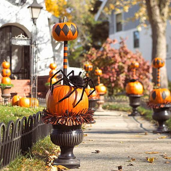 Pumpkin Topiary Ideas Part - 21: Elegant-pumpkin-topiaries-decorating-ideas-_37