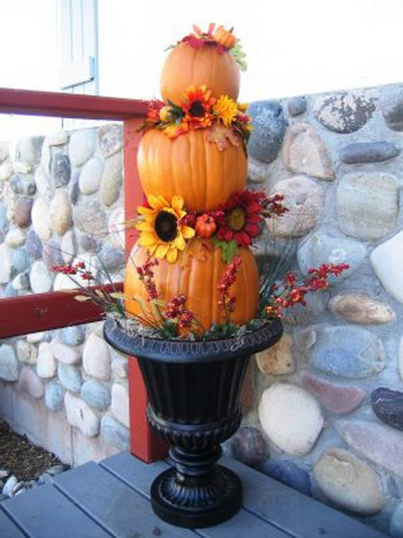 Beautiful Pumpkin Topiary Ideas Part - 3: Elegant-pumpkin-topiaries-decorating-ideas-_50